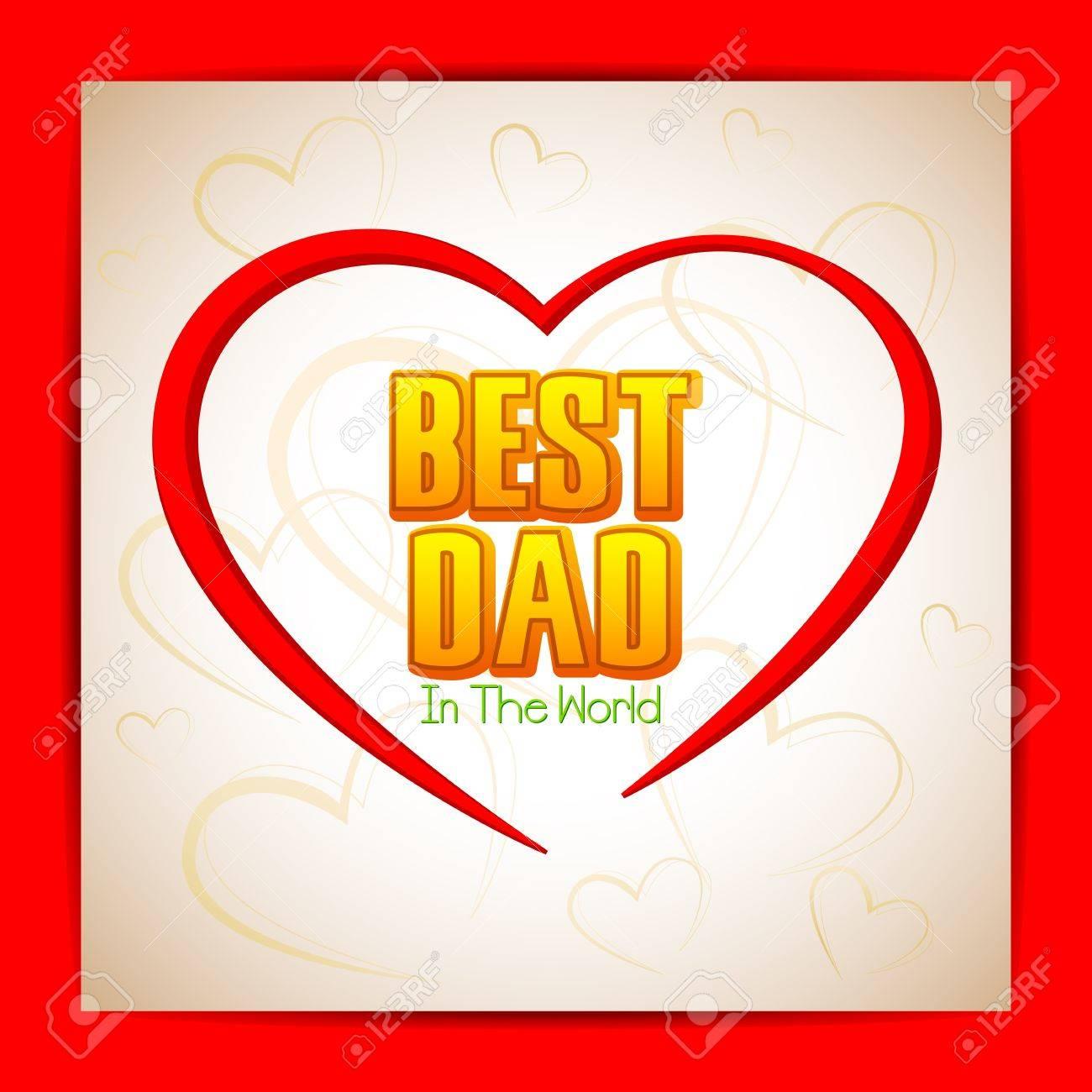 Best Dad Background Stock Vector - 19721178