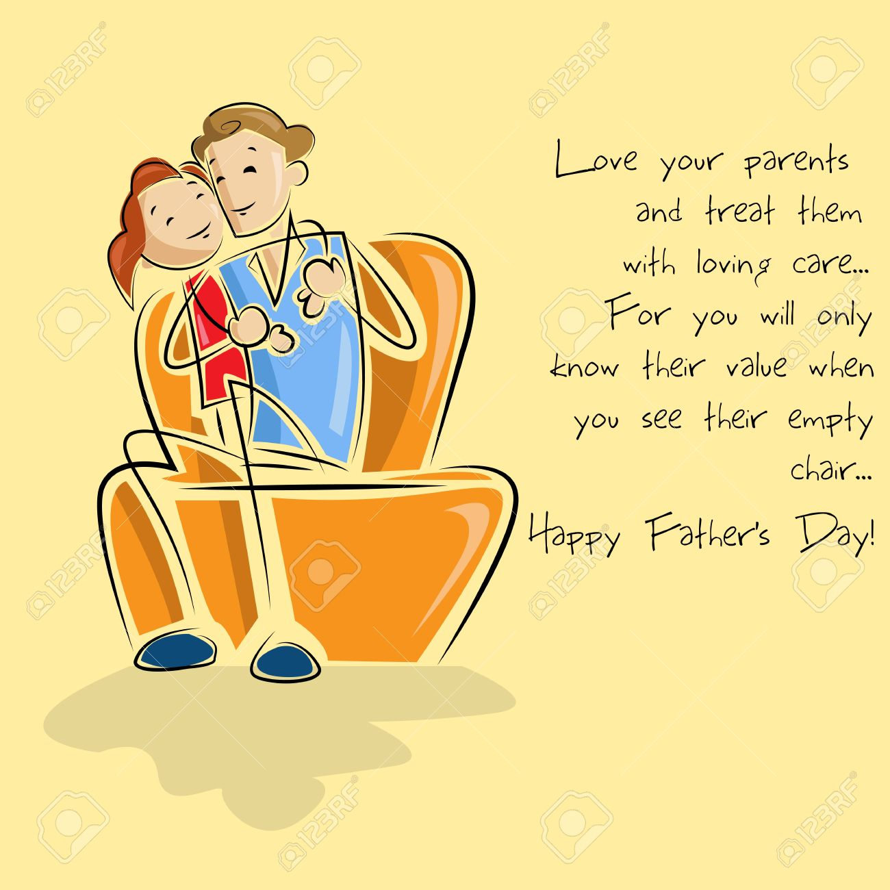 Father and daughter in Father s Day background Stock Vector - 19721183