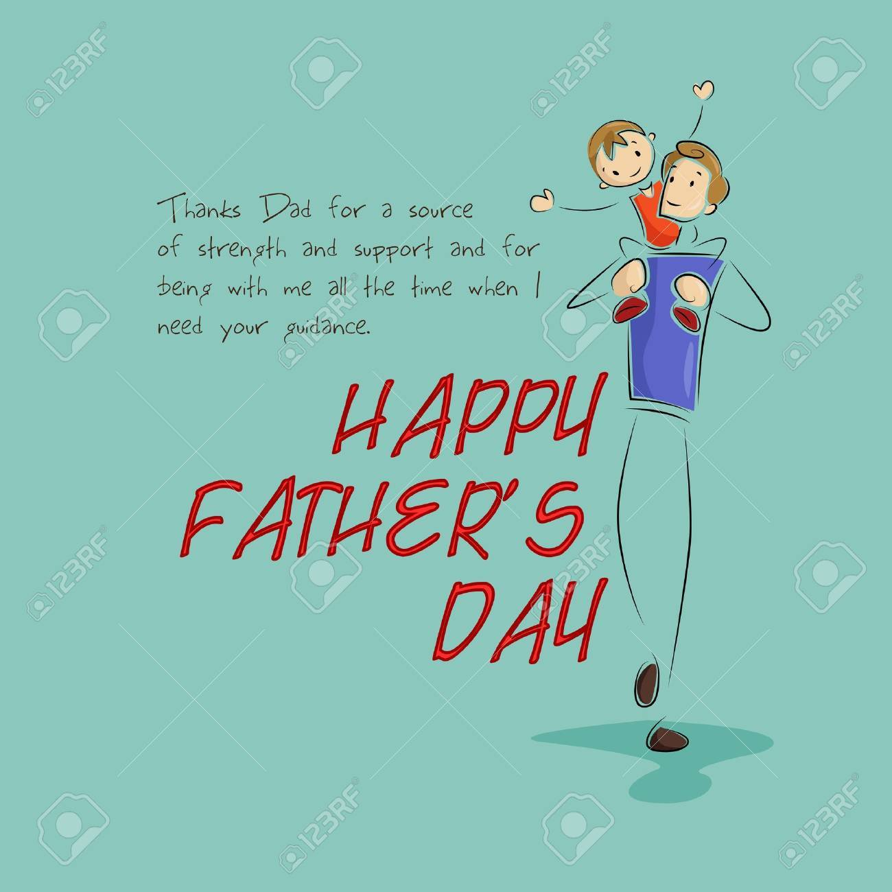 Father and son in Father s Day background Stock Vector - 19721186