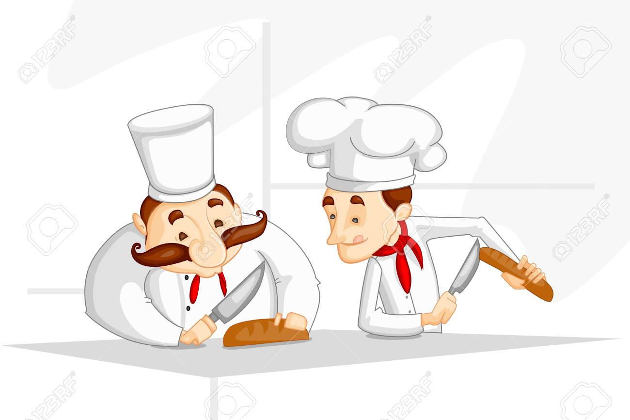 Chef cooking in Kitchen Stock Vector - 20288219