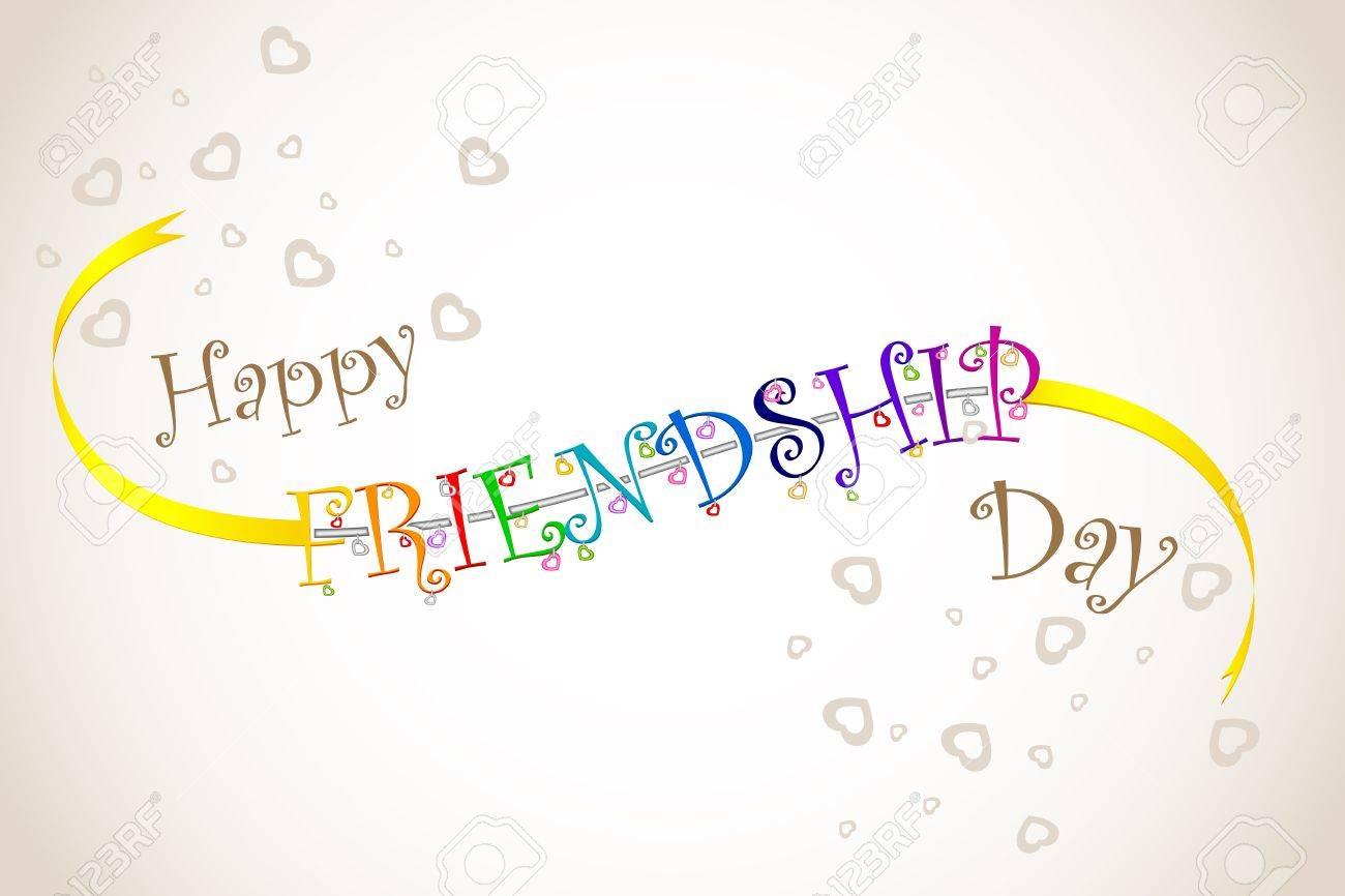 Happy Friendship Day Band Stock Photo ...