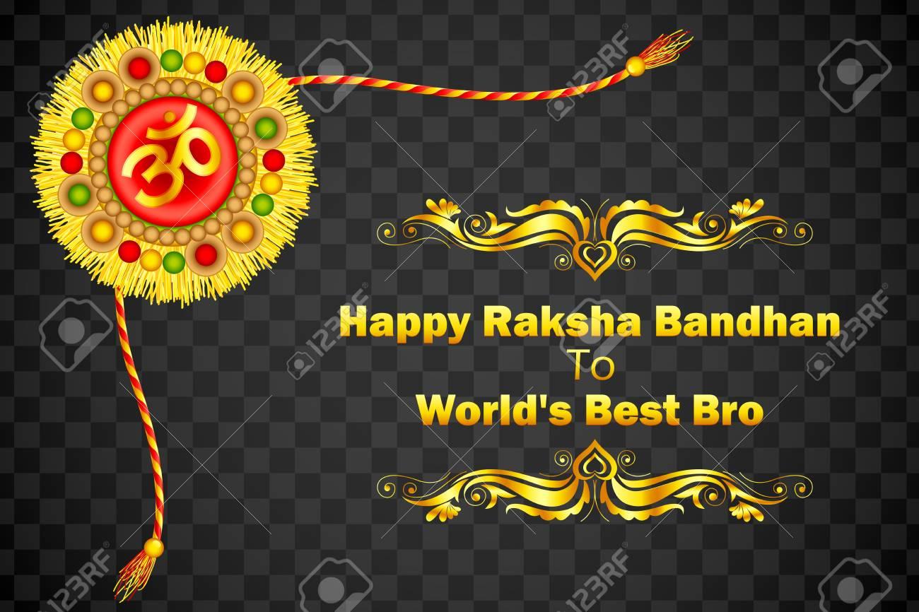 Decorated Rakhi for Raksha Bandhan Stock Vector - 21458613