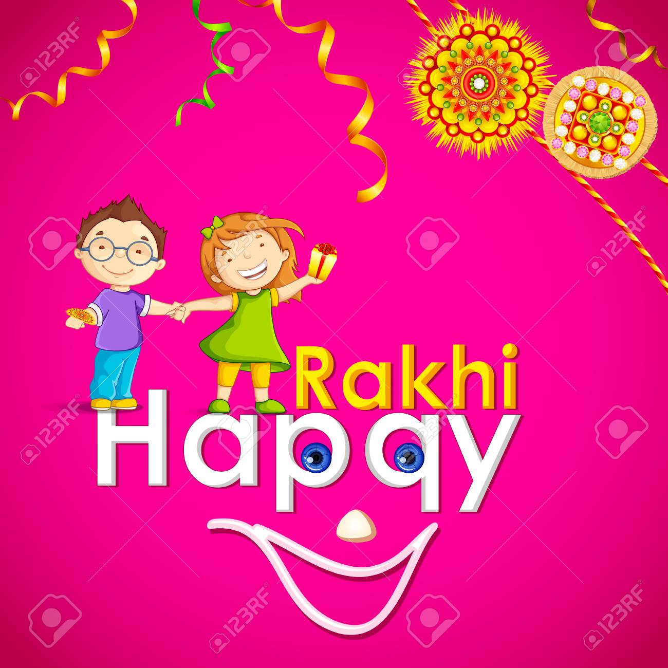 vector illustration of brother and sister in raksha bandhan Stock Vector - 22724596