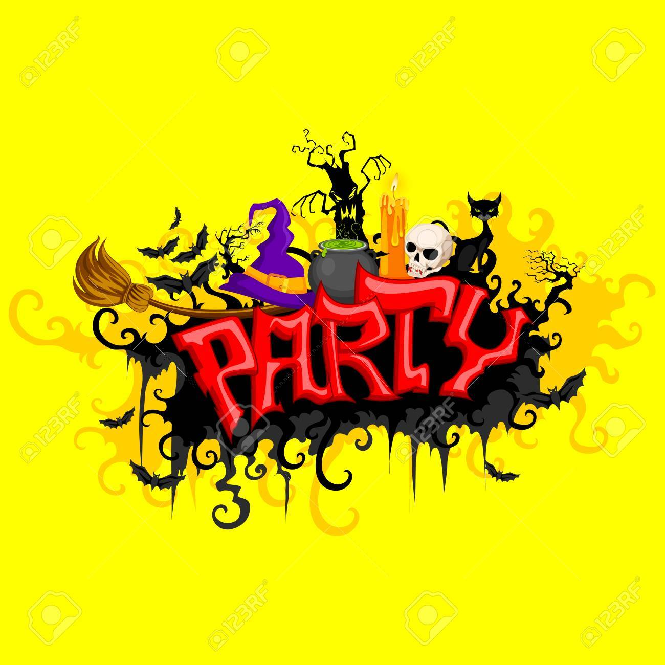 vector illustration of Halloween Party Stock Vector - 22725224