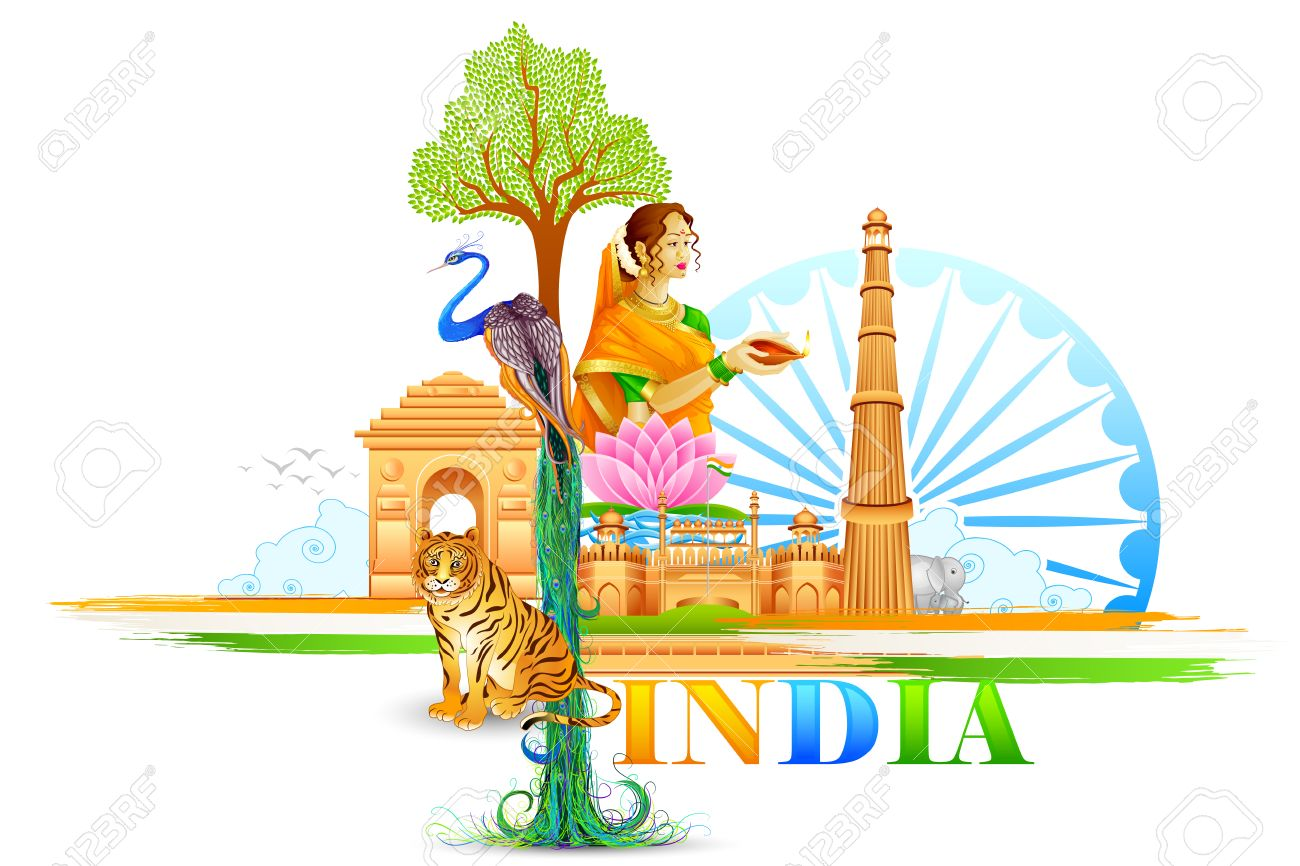 vector illustration of india wallpaper stock photo picture and