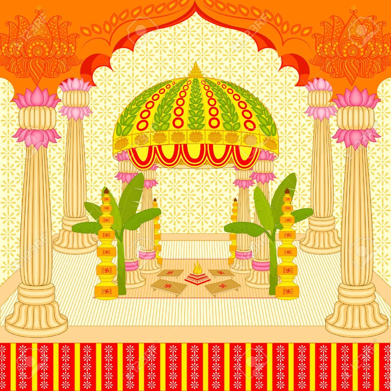 Vector illustration of indian wedding mandap stage stock photo vector illustration of indian wedding mandap stage stock illustration 26446132 junglespirit Gallery