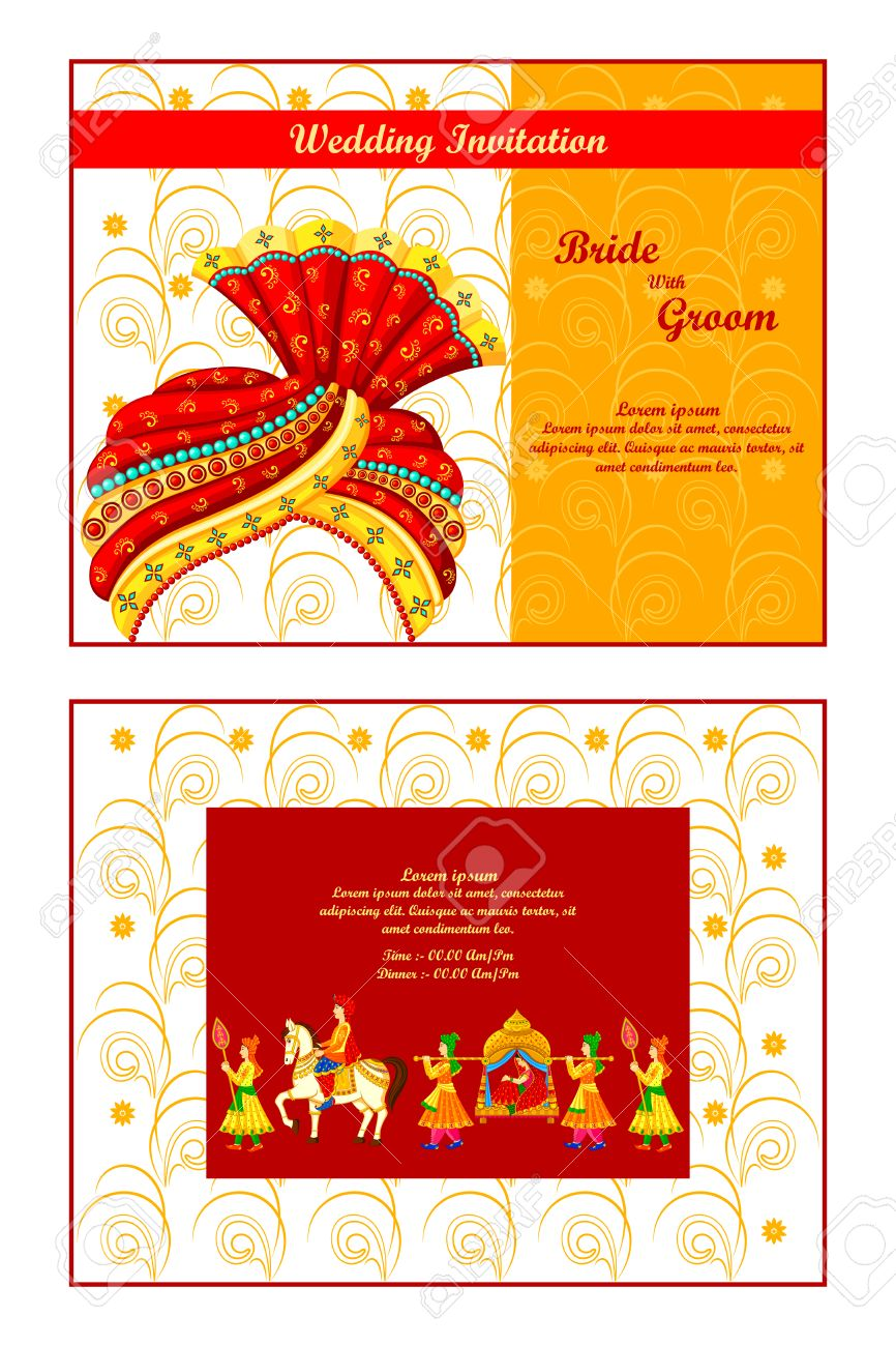 Wedding invitation vector illustration vector free download - Vector Illustration Of Indian Wedding Invitation Card Stock Vector 35121845