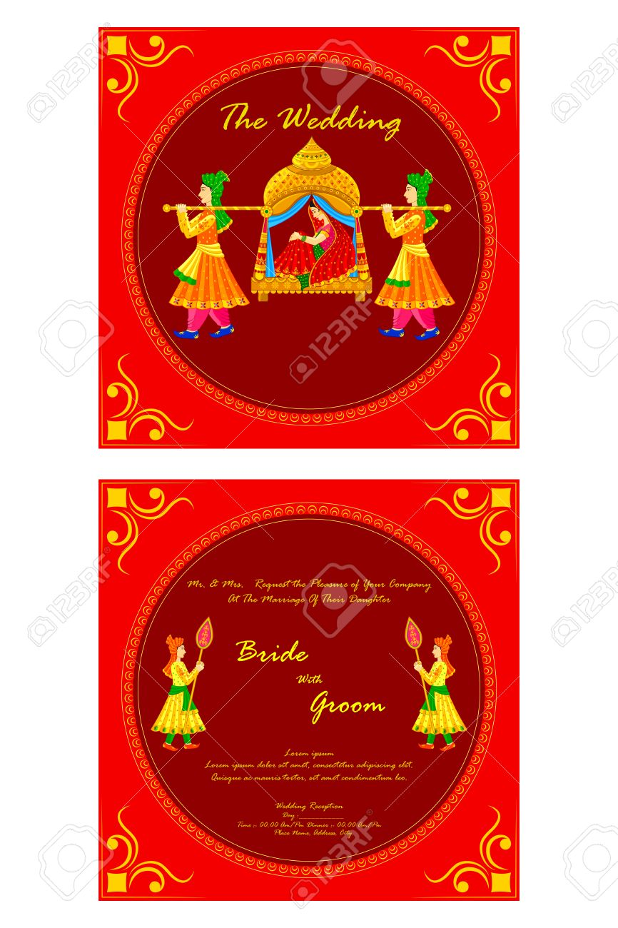 235818 Wedding Card Design Illustrations Cliparts And – Indian Wedding Card Design