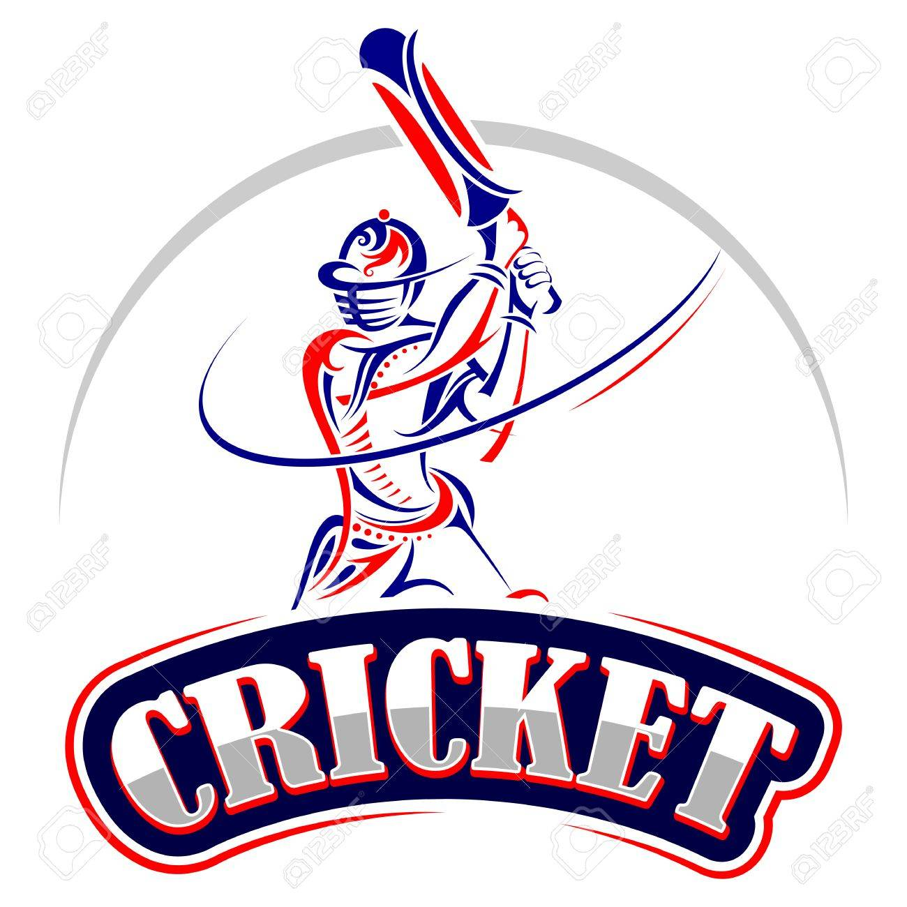 Cricket player playing with bat - 37183872