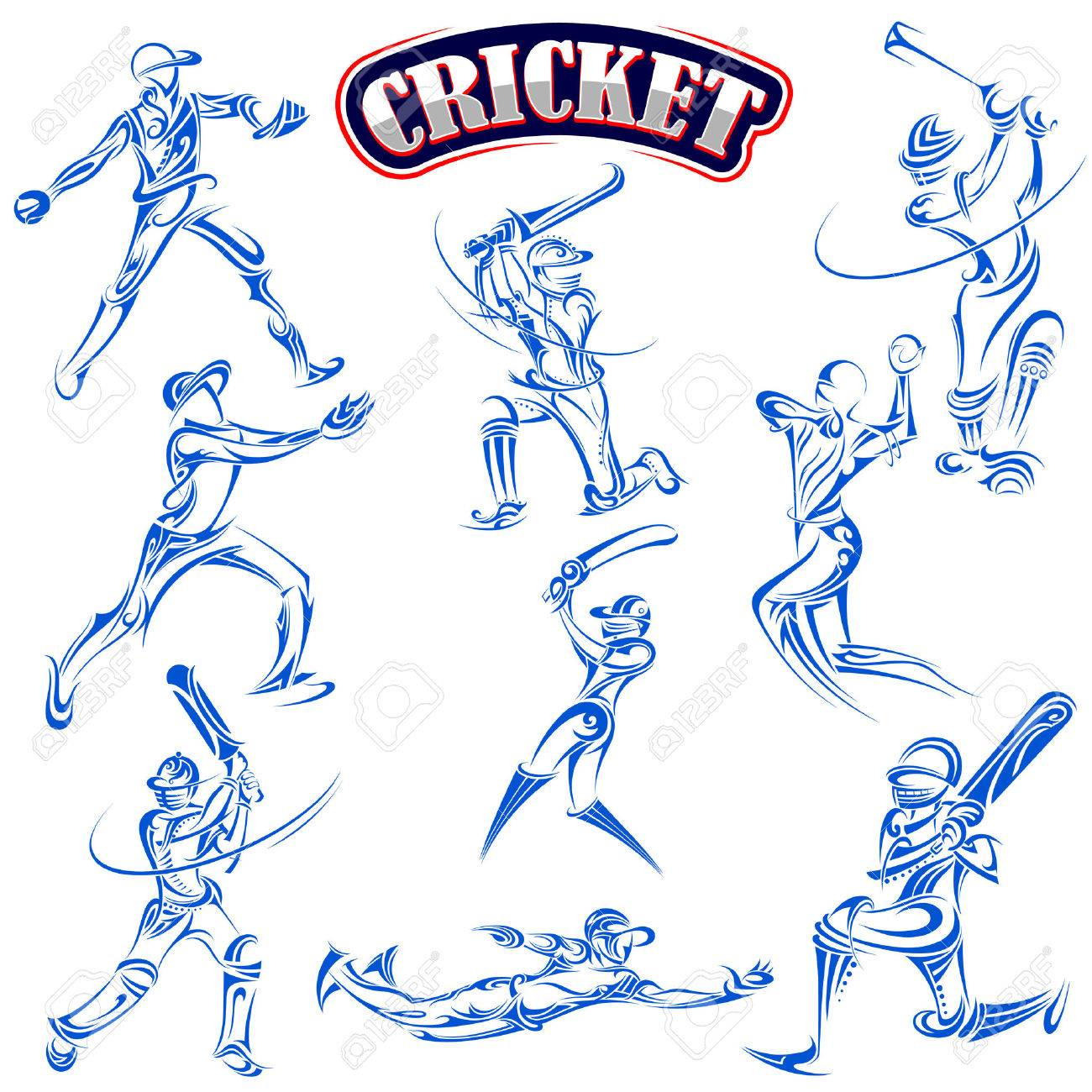 Cricket player playing with bat - 37183870