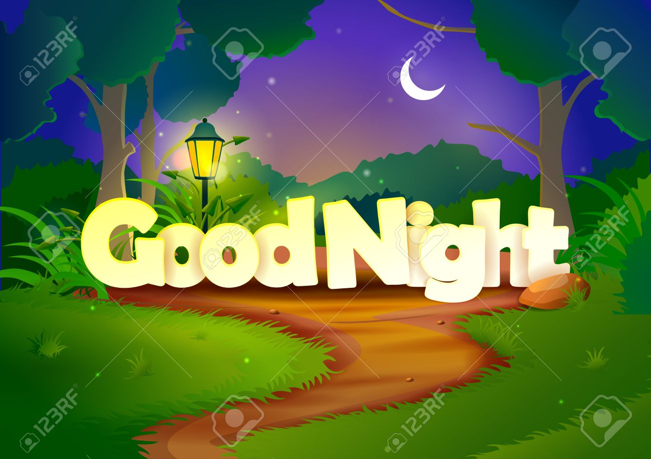 Good night wallpaper background royalty free cliparts vectors good night wallpaper background stock vector 40961755 voltagebd Images