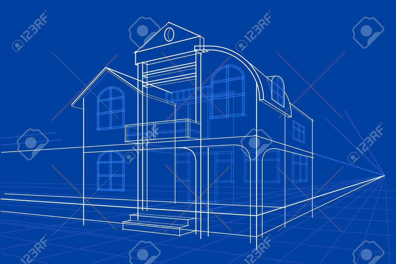 Easy to edit vector illustration of blueprint of building royalty easy to edit vector illustration of blueprint of building stock vector 52128455 malvernweather Image collections