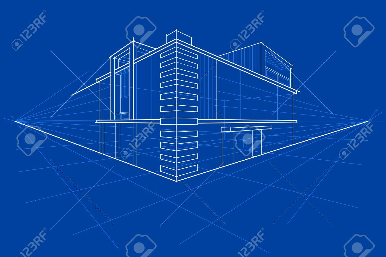 Easy to edit vector illustration of blueprint of building royalty easy to edit vector illustration of blueprint of building stock vector 52128461 malvernweather Gallery