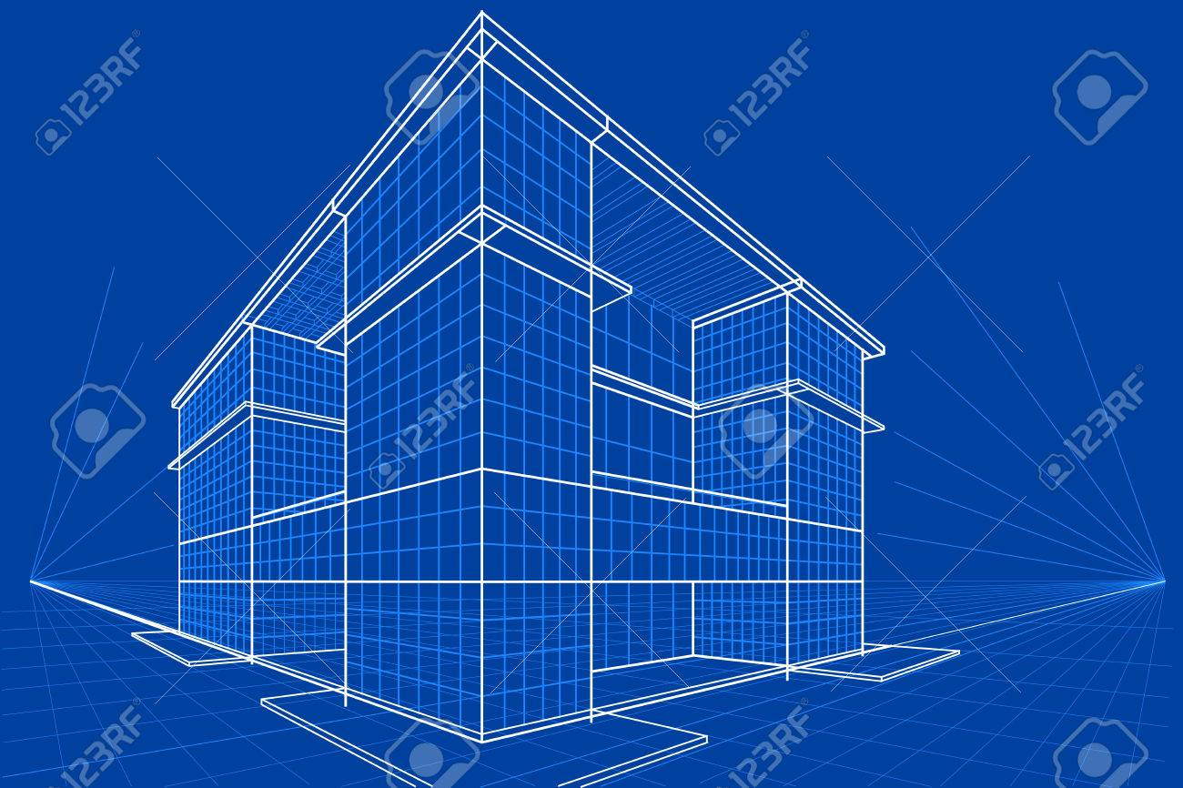 Easy to edit vector illustration of blueprint of building royalty easy to edit vector illustration of blueprint of building stock vector 52128529 malvernweather Choice Image