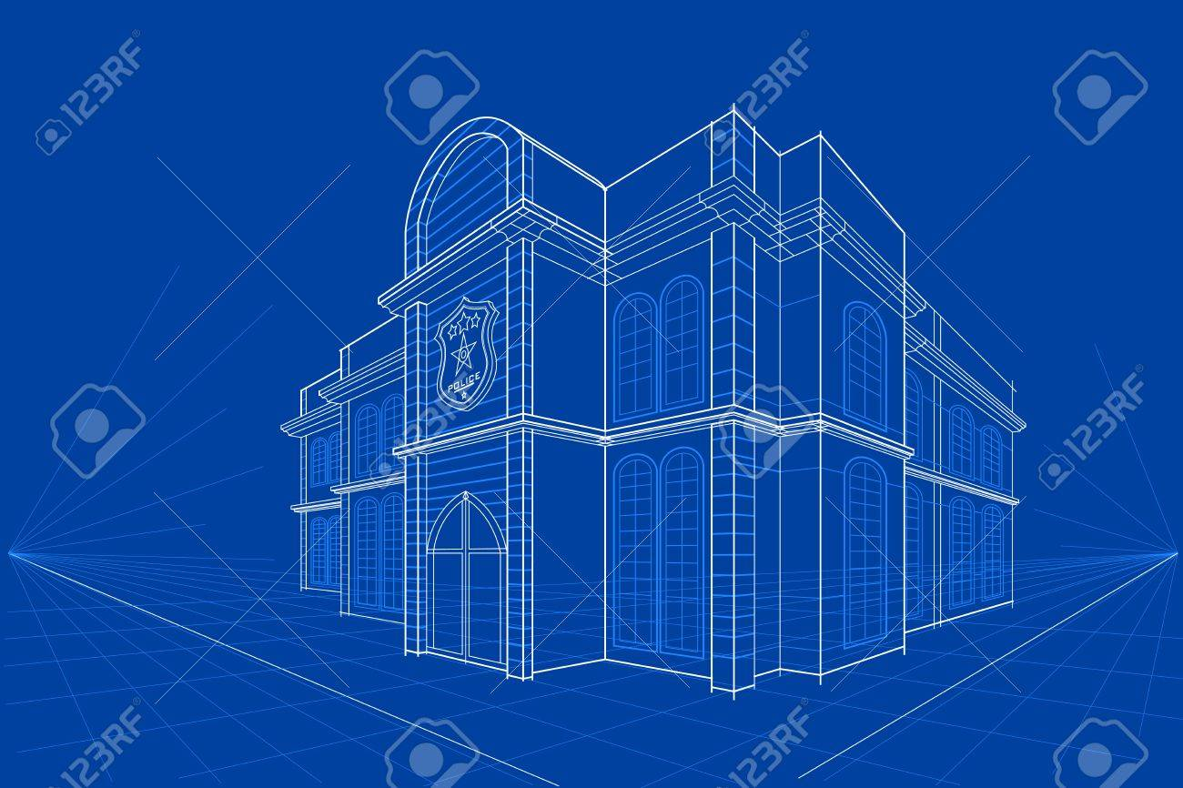 Easy to edit vector illustration of blueprint of building royalty easy to edit vector illustration of blueprint of building stock vector 52128538 malvernweather Images