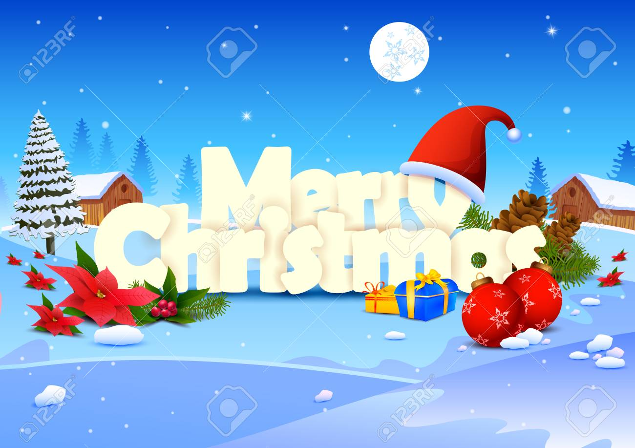66625529 vector illustration of merry christmas wallpaper background