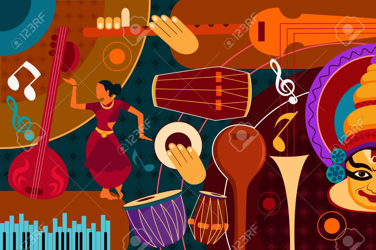 Abstract Music collage background - 75997454