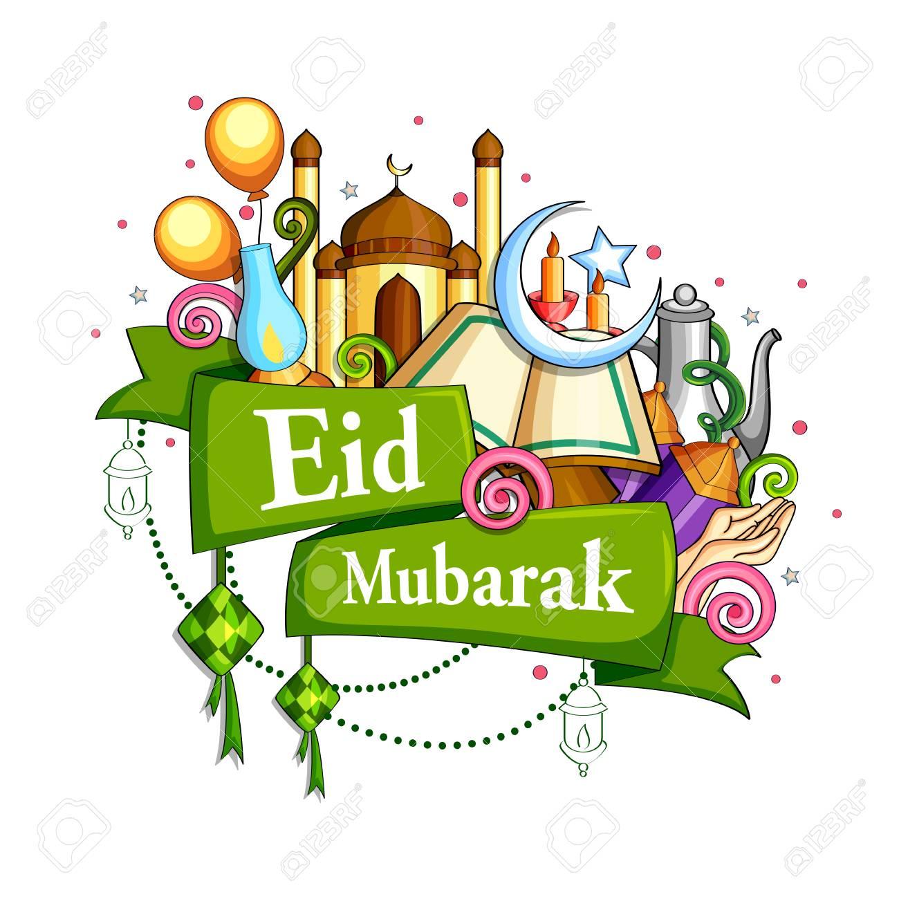 Eid Mubarak Blessing for Eid background. - 79409984