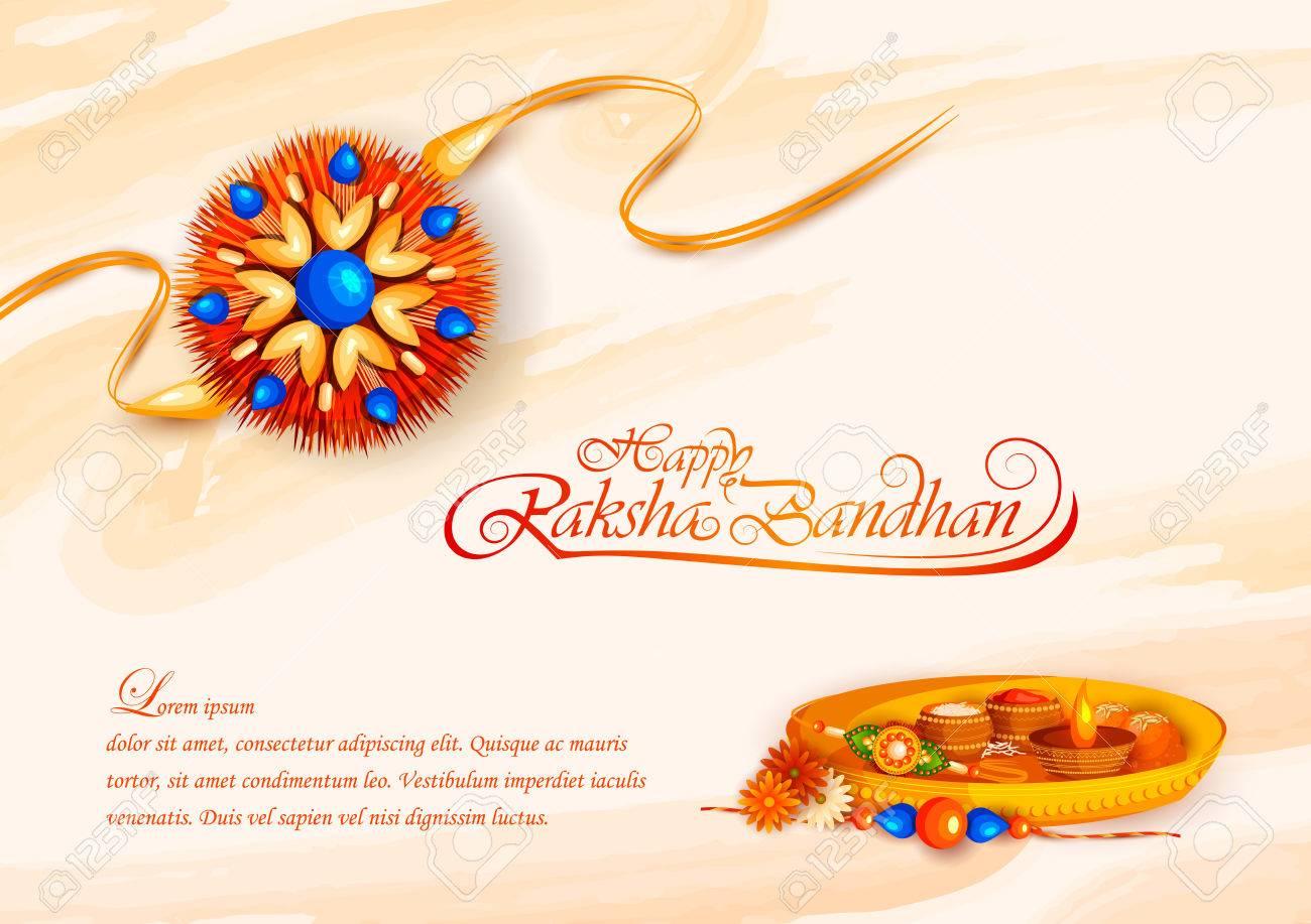 vector illustration of decorated rakhi for Indian festival Raksha Bandhan - 81571812