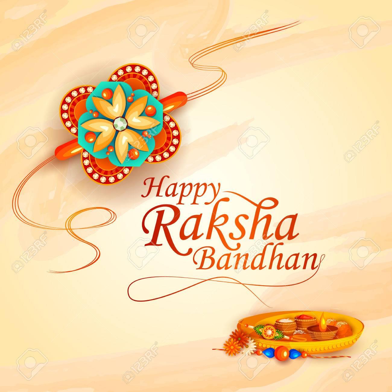 vector illustration of decorated rakhi for Indian festival Raksha Bandhan - 81571849