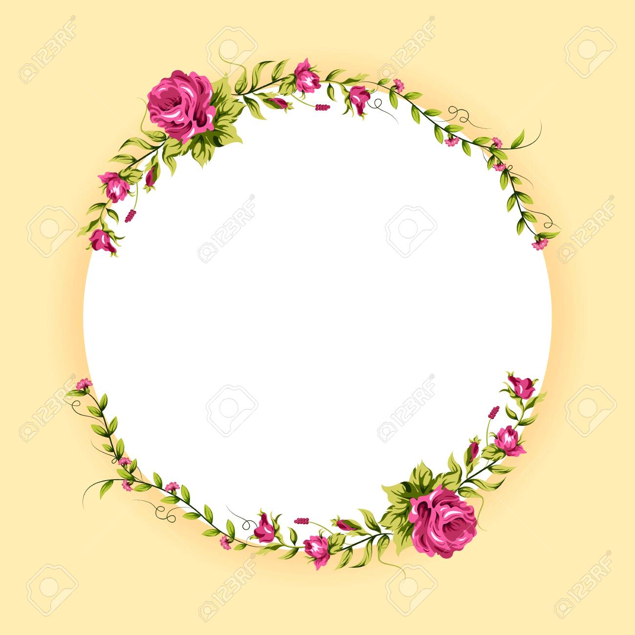 Spring fresh flower in floral banner poster background - 146905027