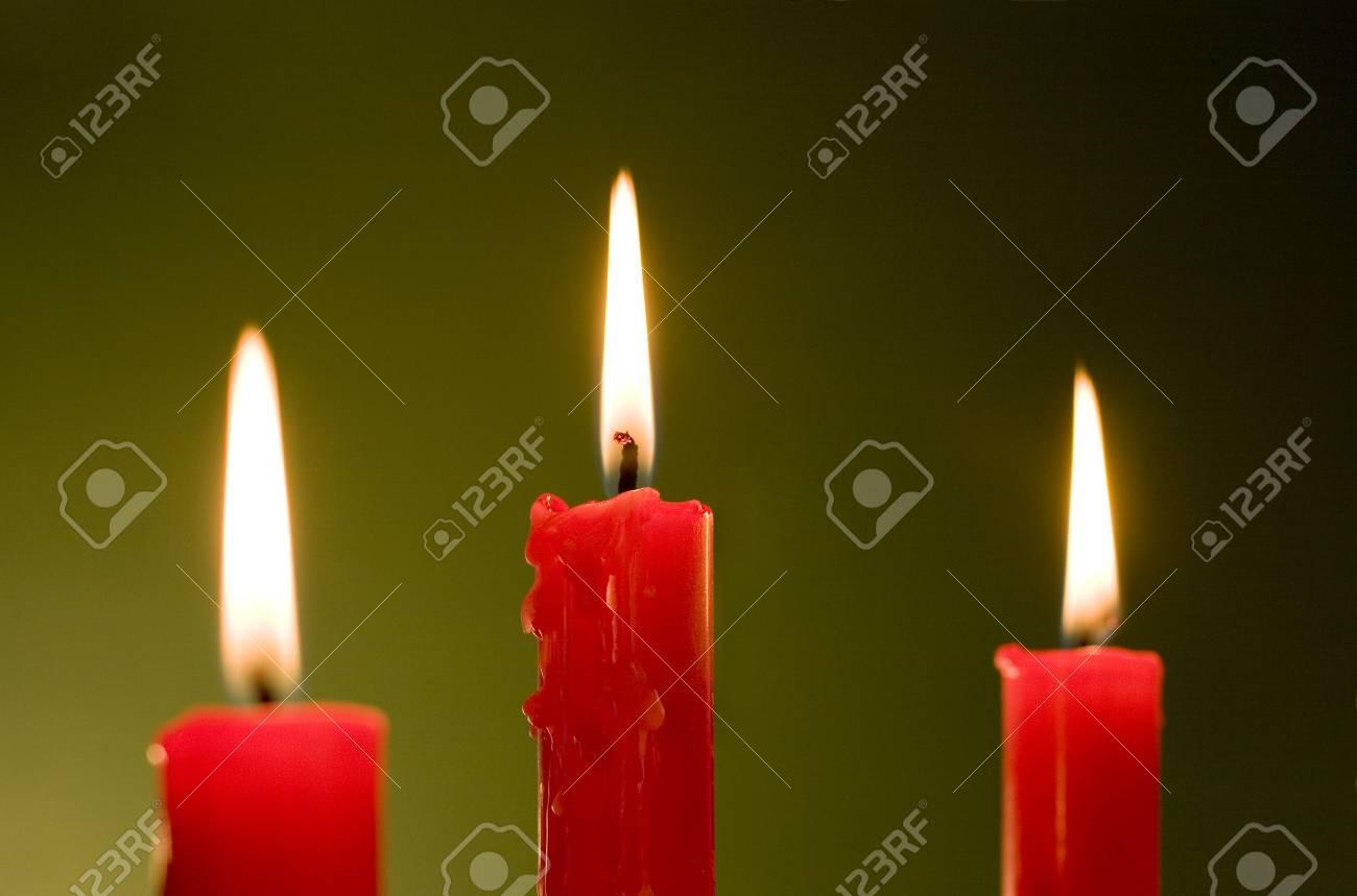 Three candles Stock Photo - 3420137