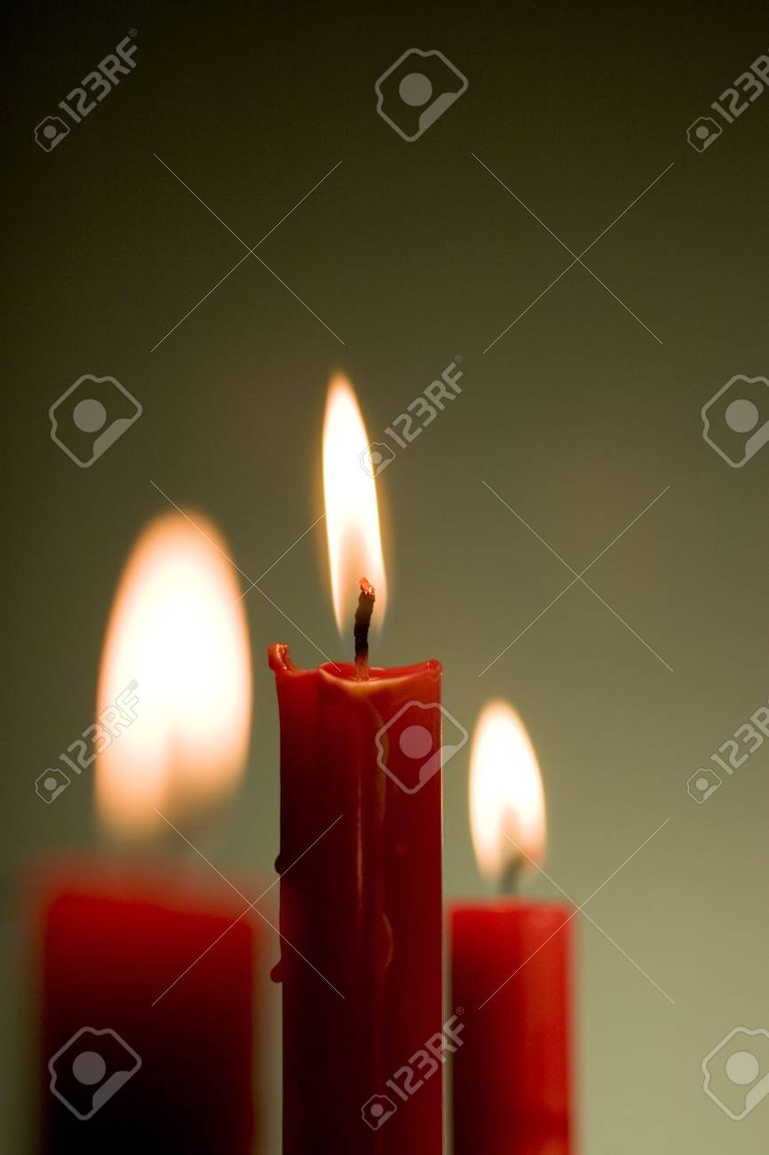 Three candles Stock Photo - 3420132