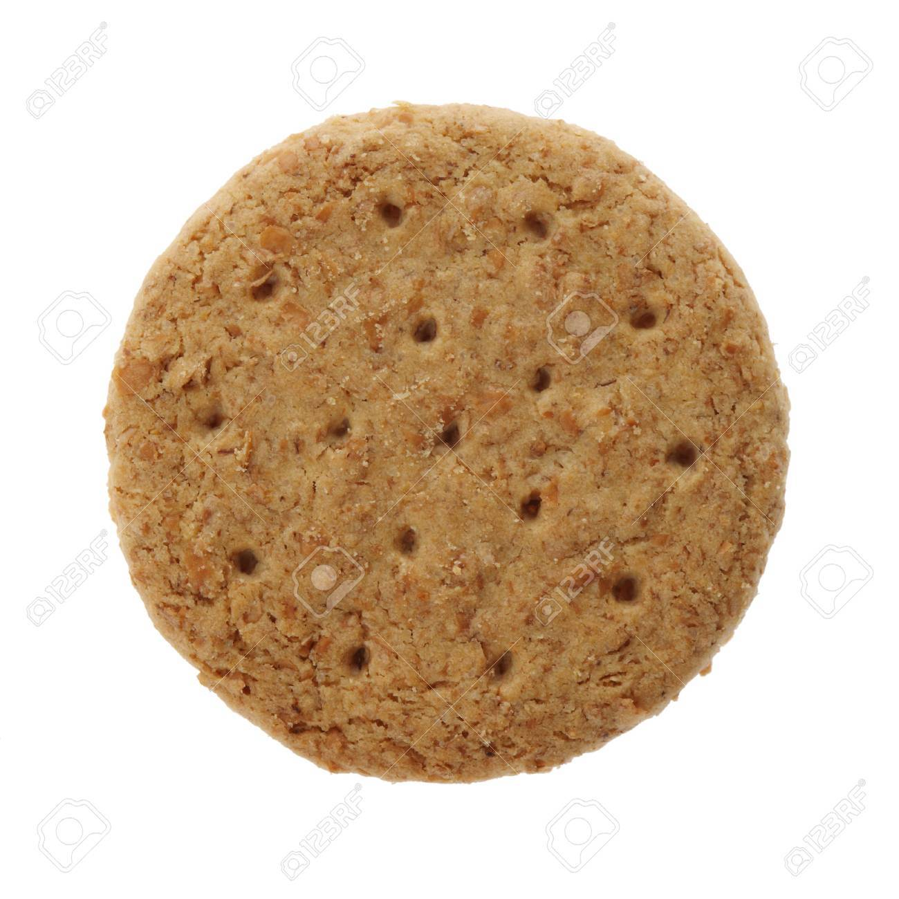 A Digestive biscuit isolated on white Stock Photo - 3420177