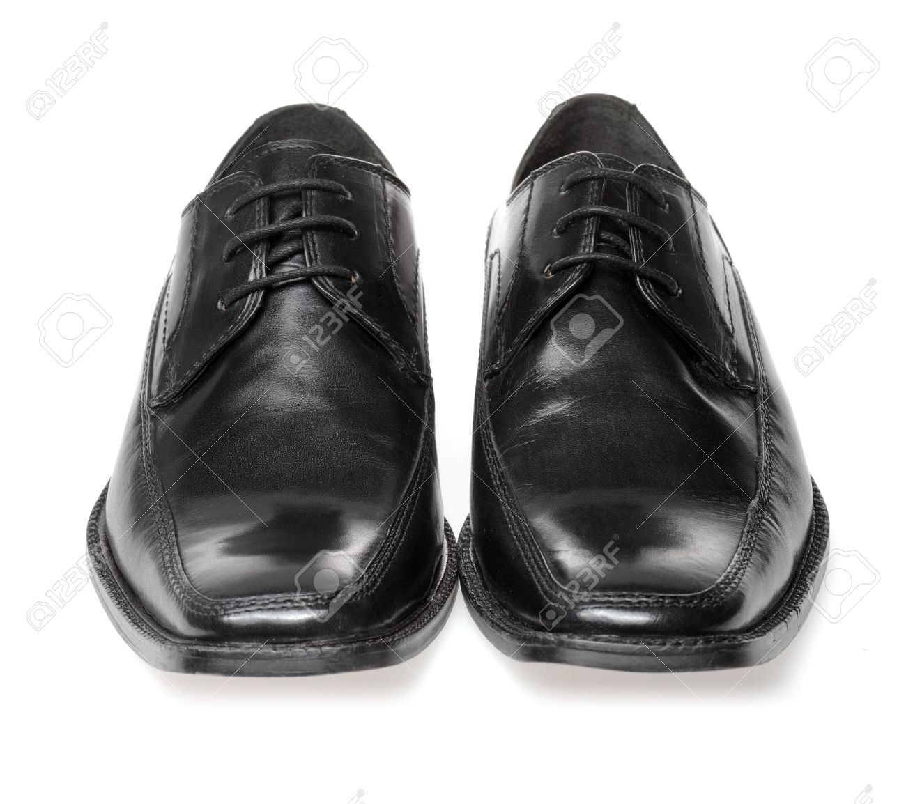 Men's Black Leather Dress Shoes Stock Photo, Picture And Royalty ...