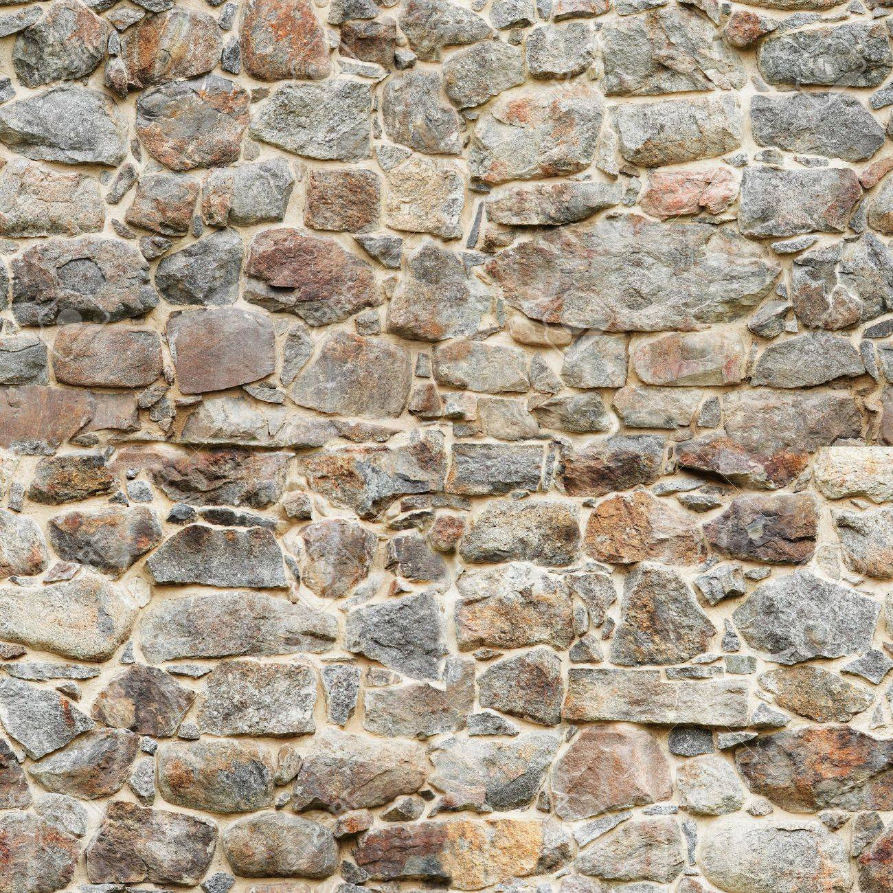 Old castle wall. The image is seamlessly tileable. Stock Photo - 5454495