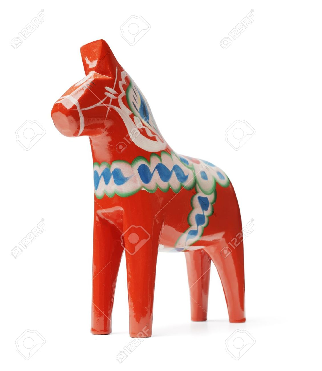 A Hand Made Traditional Wooden Dalecarlian Horse Dalahast Is A