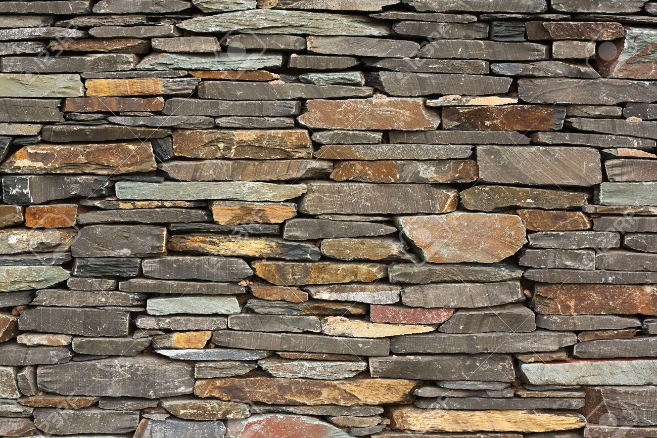 De Nueva Construccion De Piedra Seca Pared Caracteristica
