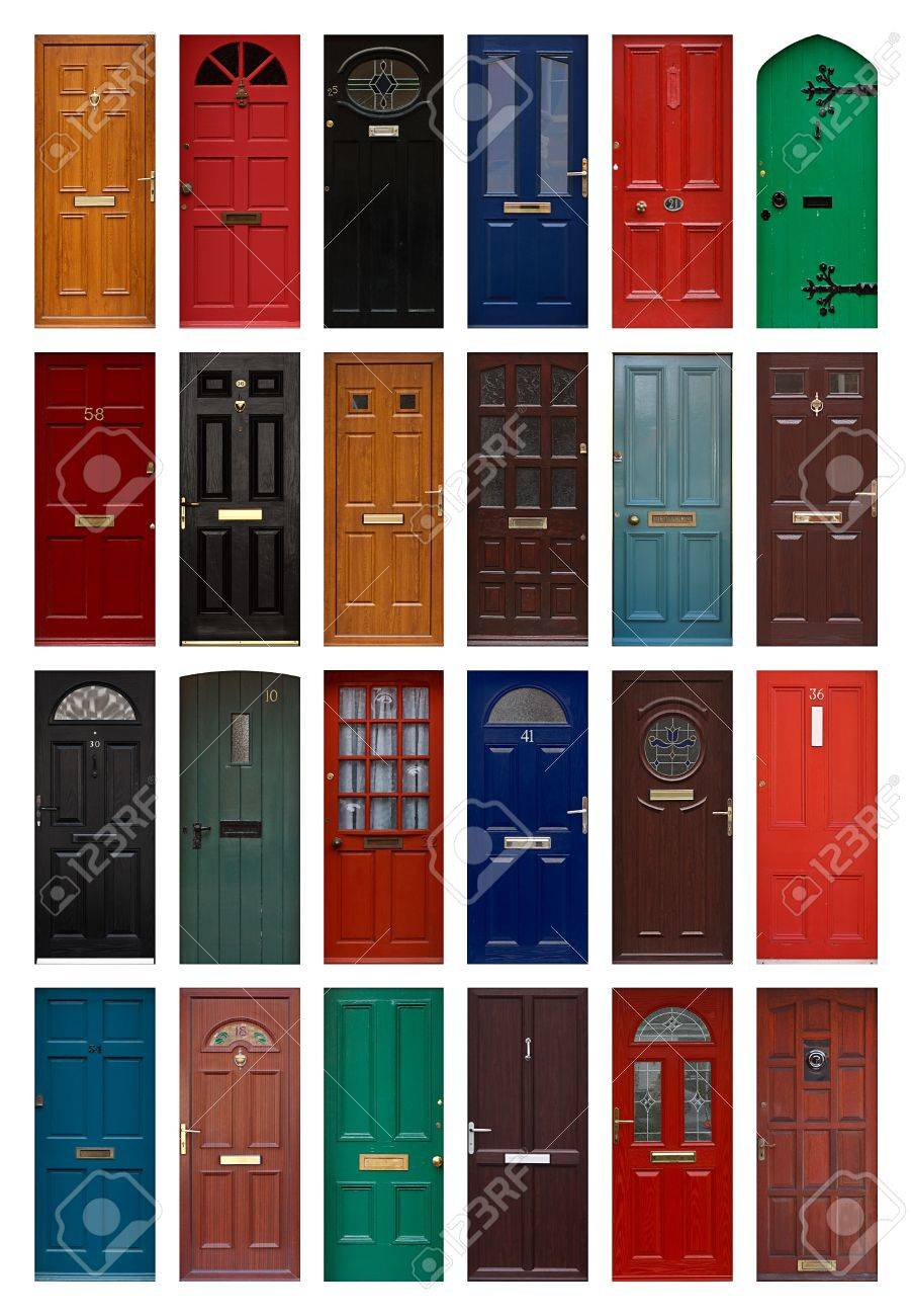 A Collection Of Residential Front Doors Good For Estate Agents