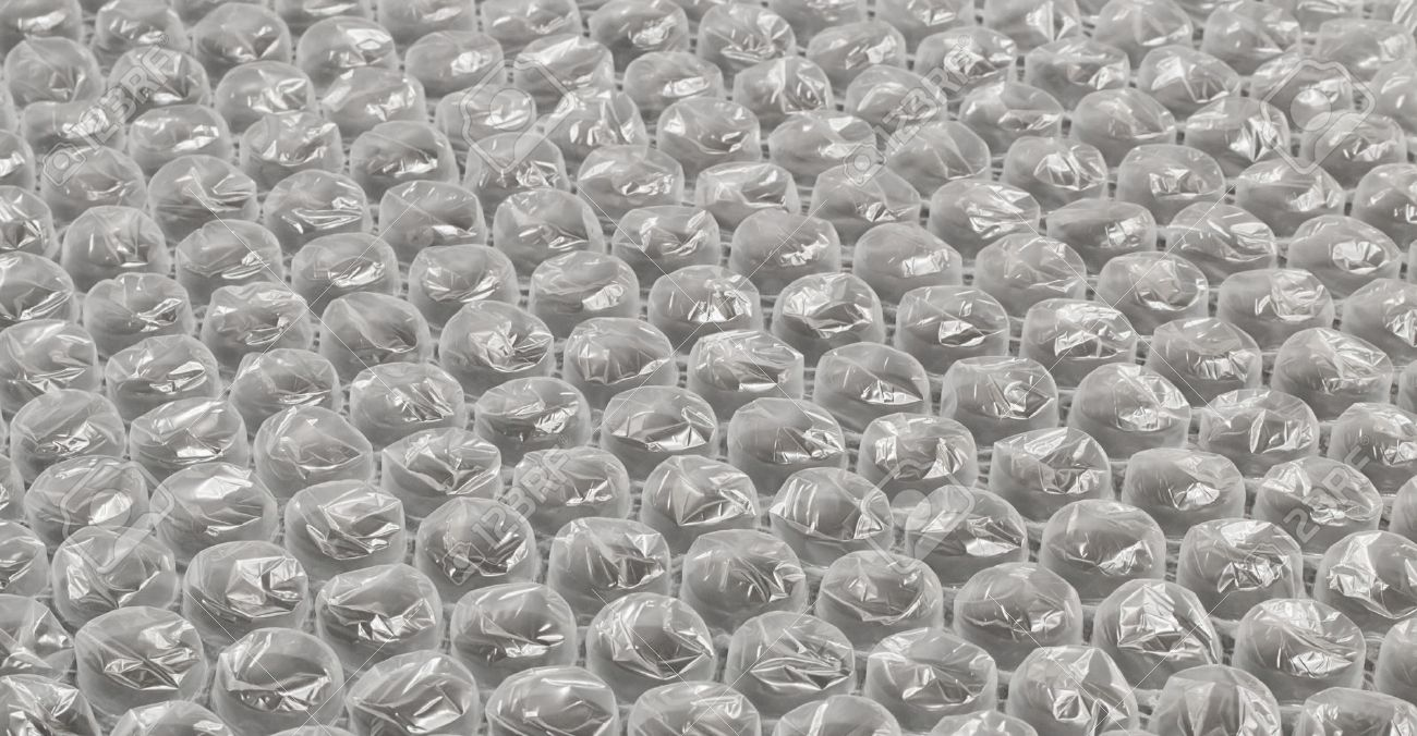 Plastic Bubble Wrap Used In Packaging Fragile Items For Delivery