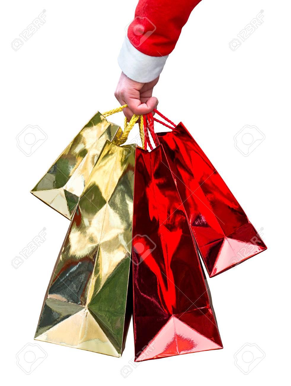 Bunch Von Bunten Glänzenden Geschenk-Taschen Weihnachten Ein Tolles ...