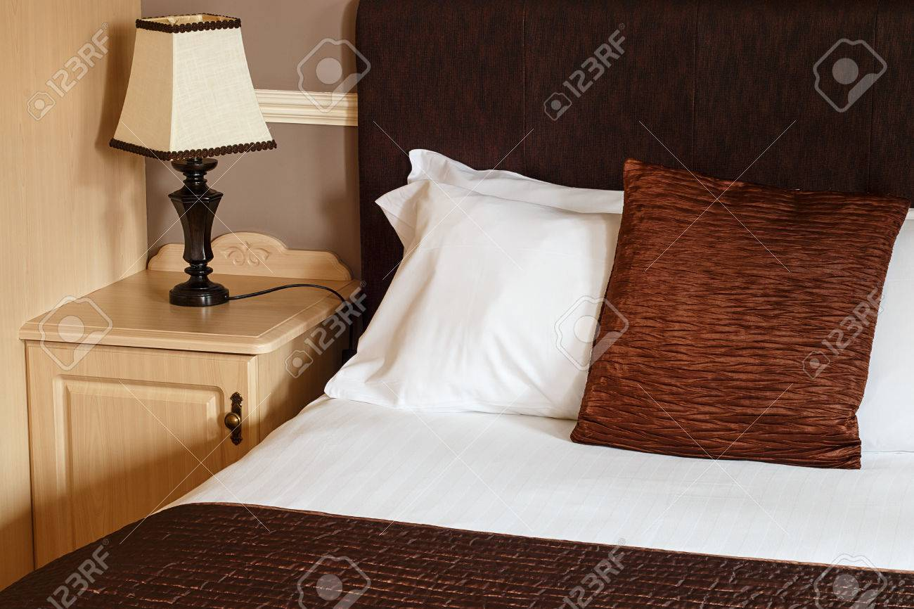Bed And Breakfast Generic Room With Detail Of Bed, Sheets And Bedside  Cabinet Great For