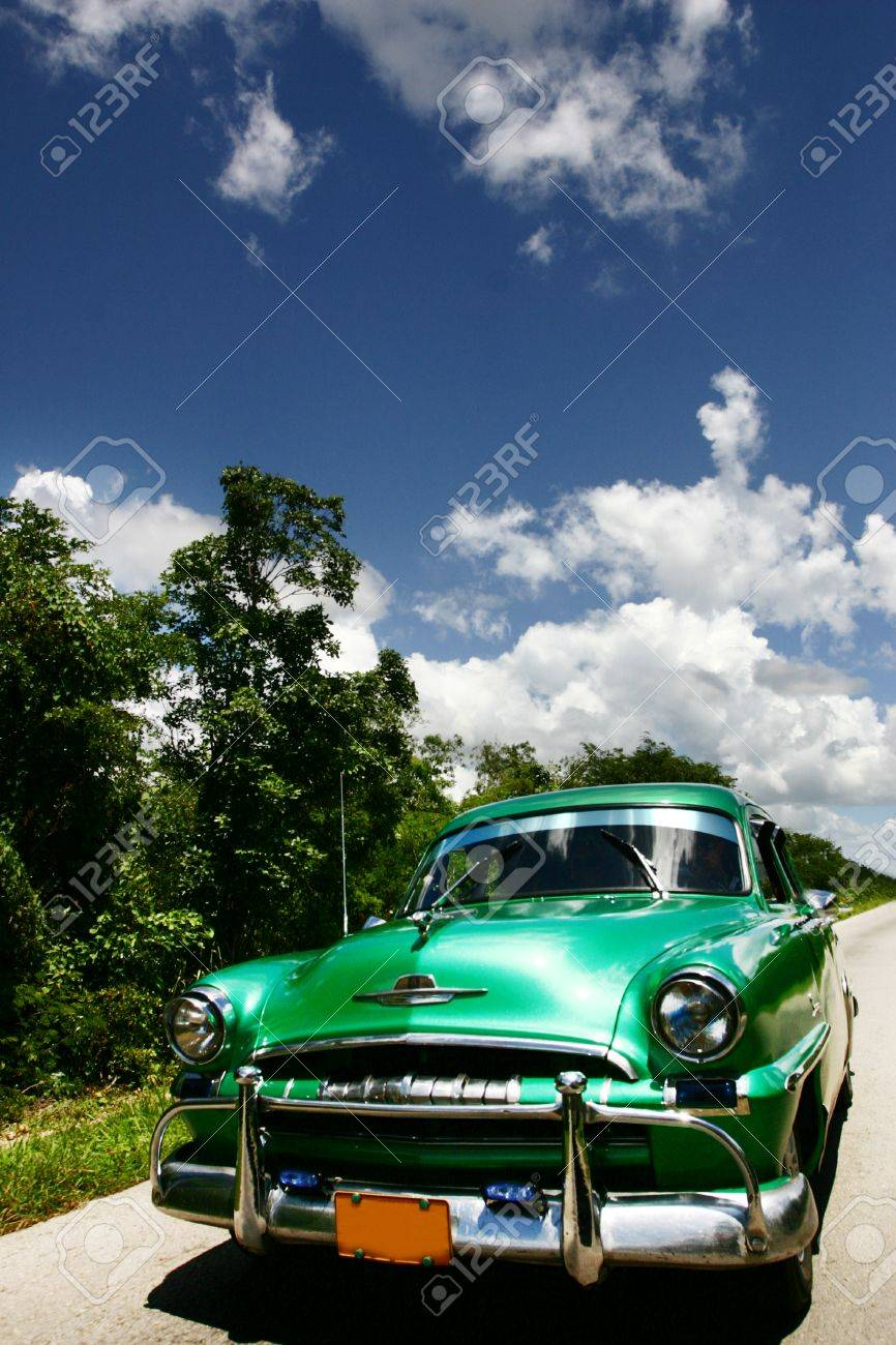The Traditional Car Wintage In Havana Cuba Stock Photo, Picture And ...