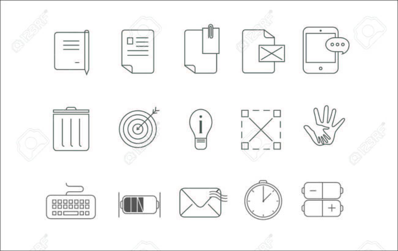 Einfache Ikone Stellte Funfzehn Ikonen Fur Kommunikation