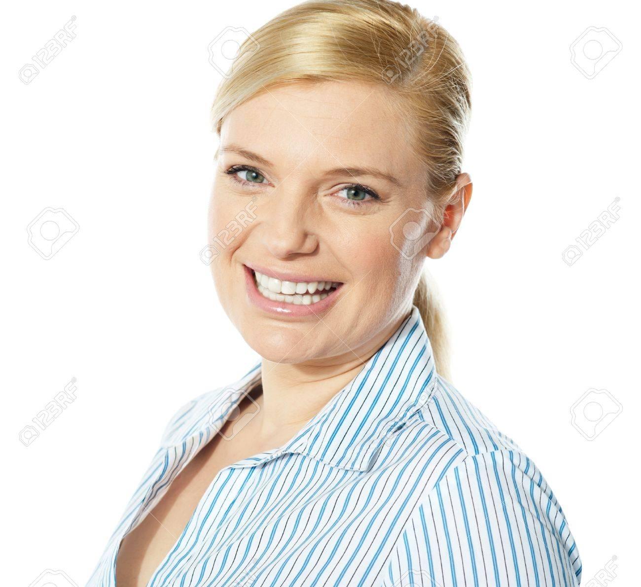 Smiling beautiful female business executive, close-up Stock Photo - 13217876