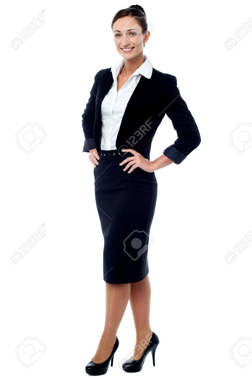 Full length of businesswoman posing casually Stock Photo - 40281322