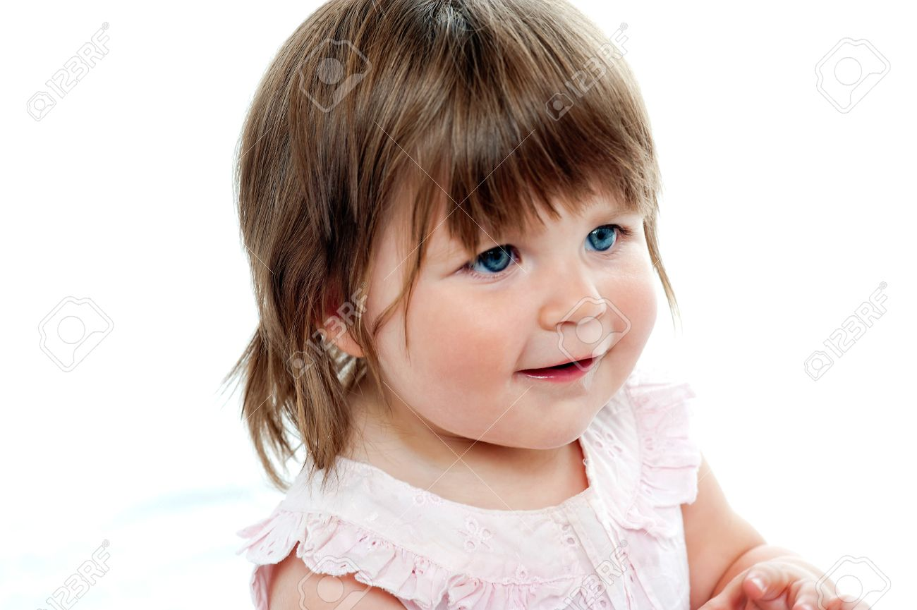 cute baby girl, blue eyes stock photo, picture and royalty free