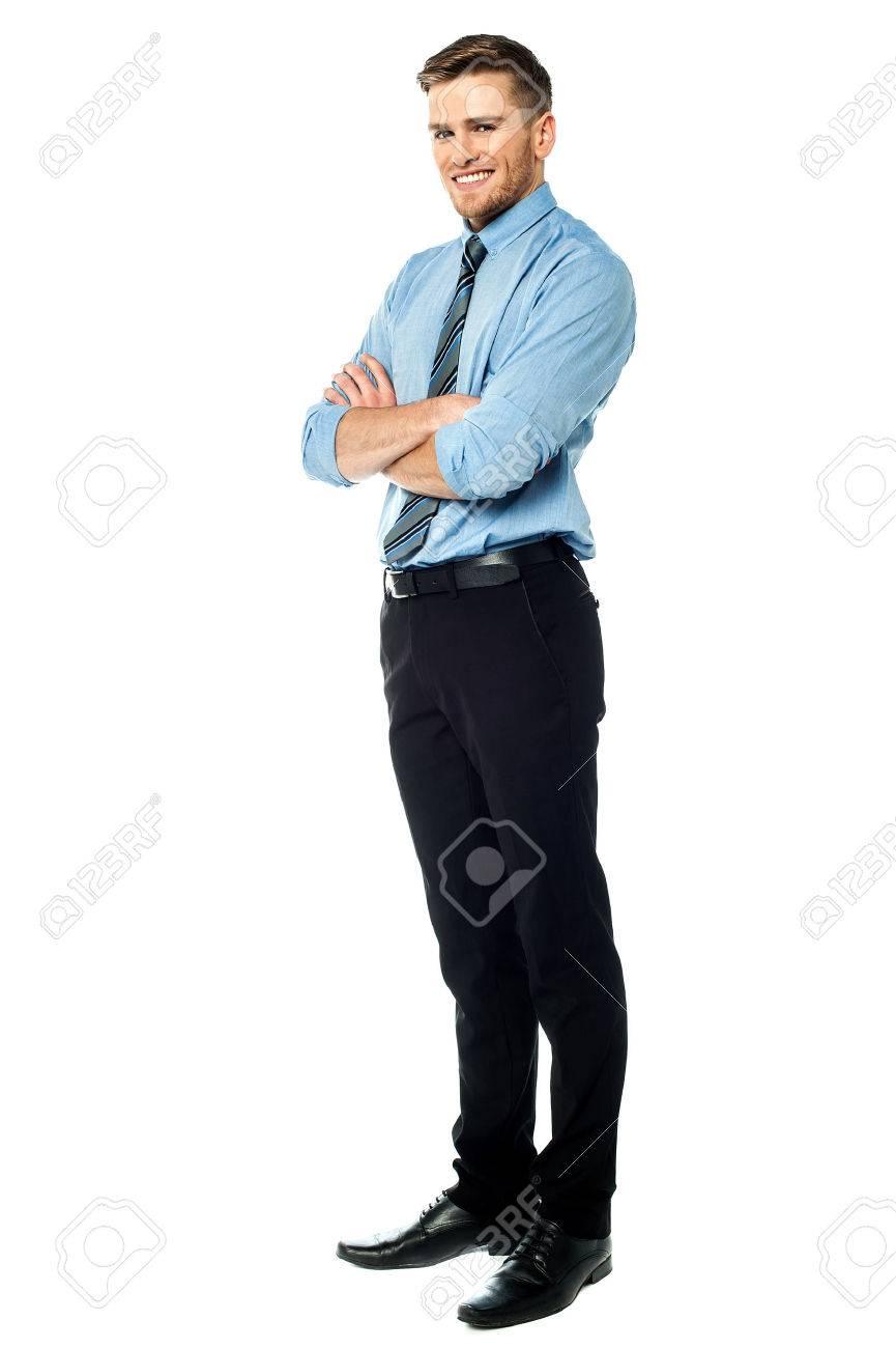 Ambitious entrepreneur, full length shot. Stock Photo - 46338492