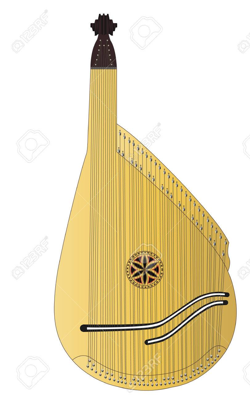 bandura, ethnical ukrainian musical string instrument, which was traditionally played by ancient ukrainian warriors - cossacs and wandering folk singers - konzars. another, more traditional name for the instrument is kobza. - 72590730