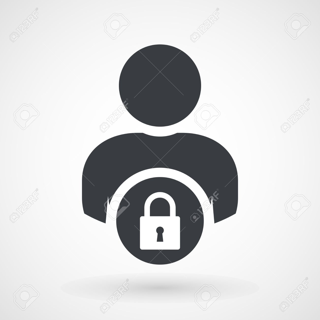 User login or access authentication icon
