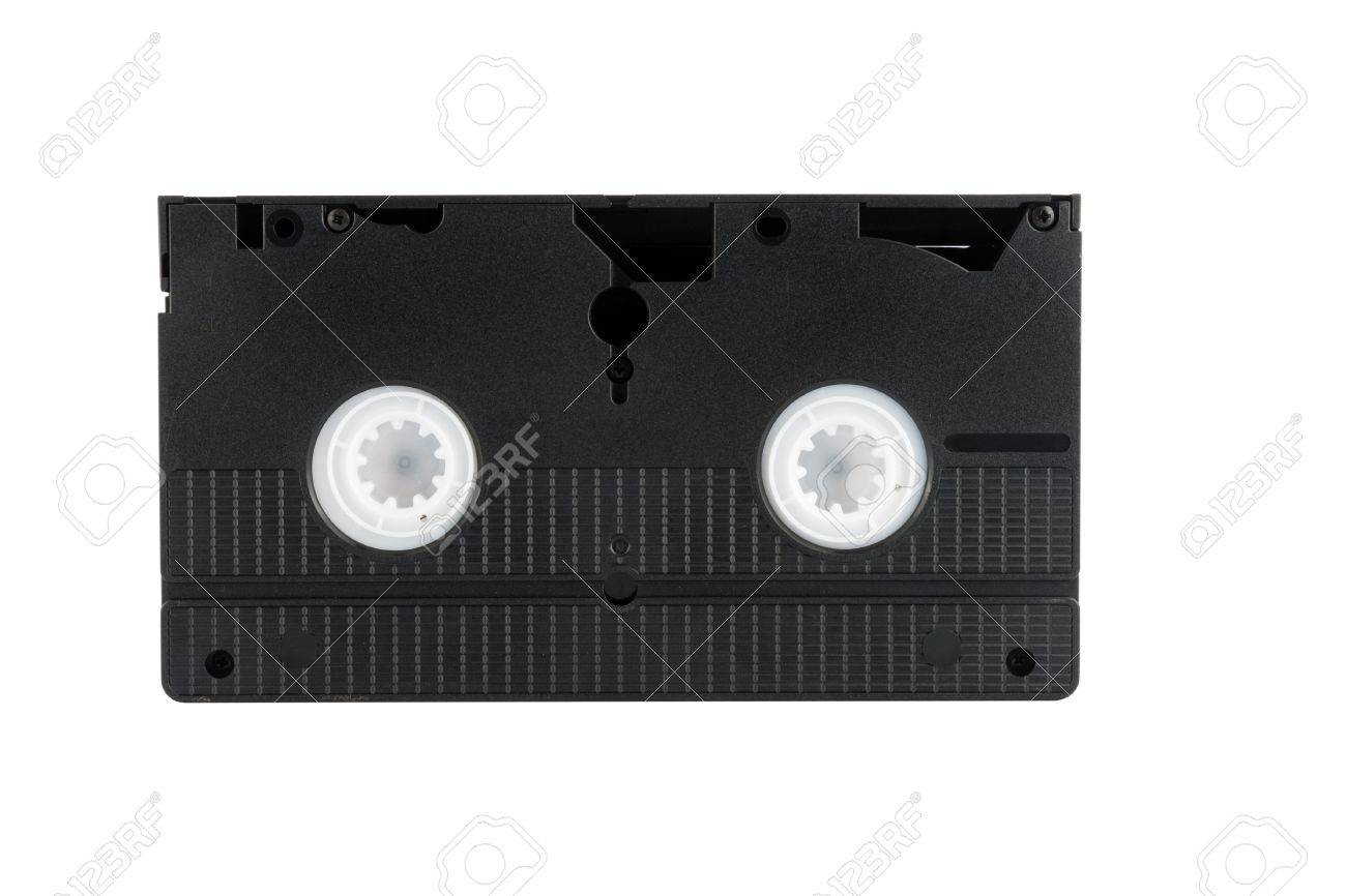 Old VCR tape, Vhs cassette, isolated on white background