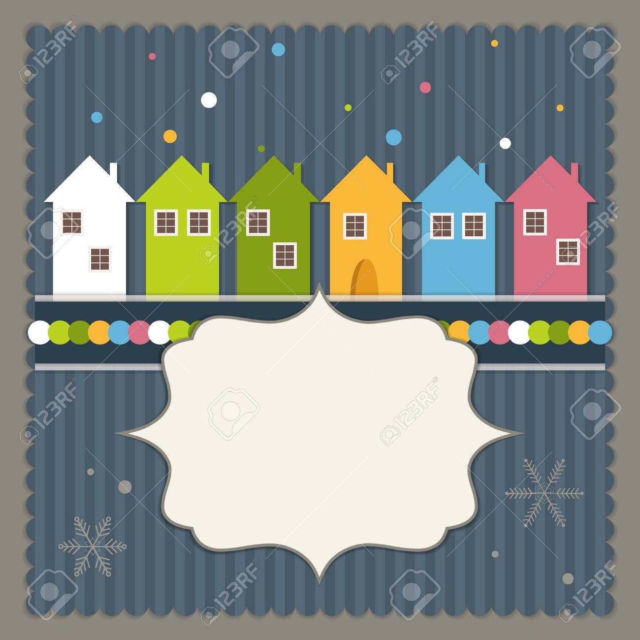 Merry Christmas And Happy New Year Real Estate Card Royalty Free ...