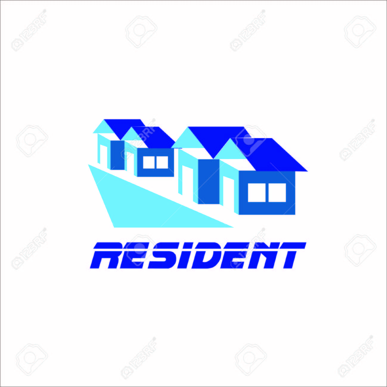 Vector Creative Illustration Resident Building Logos, Home Logo ...