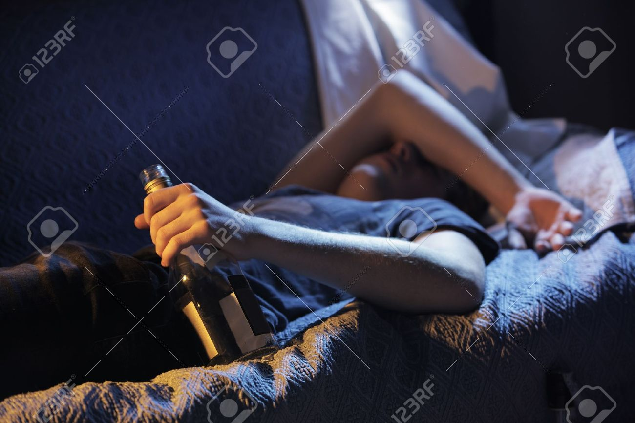 Teen alcohol addiction concept Stock Photo - 16141188