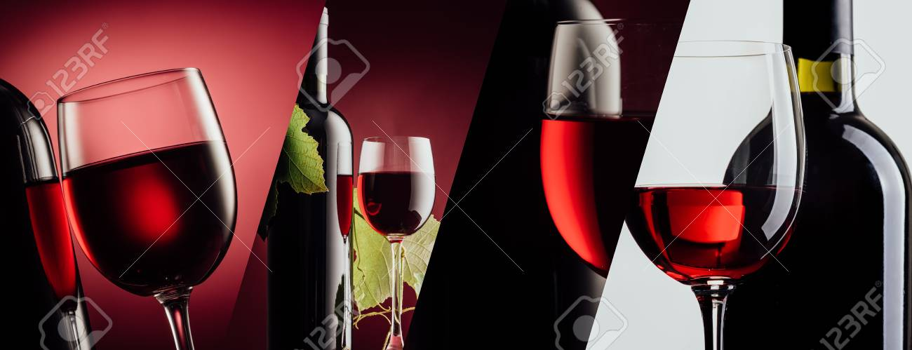 Red Wine Bottle And Wine Glass On Different Backgrounds Photo Stock Photo Picture And Royalty Free Image Image 88211627