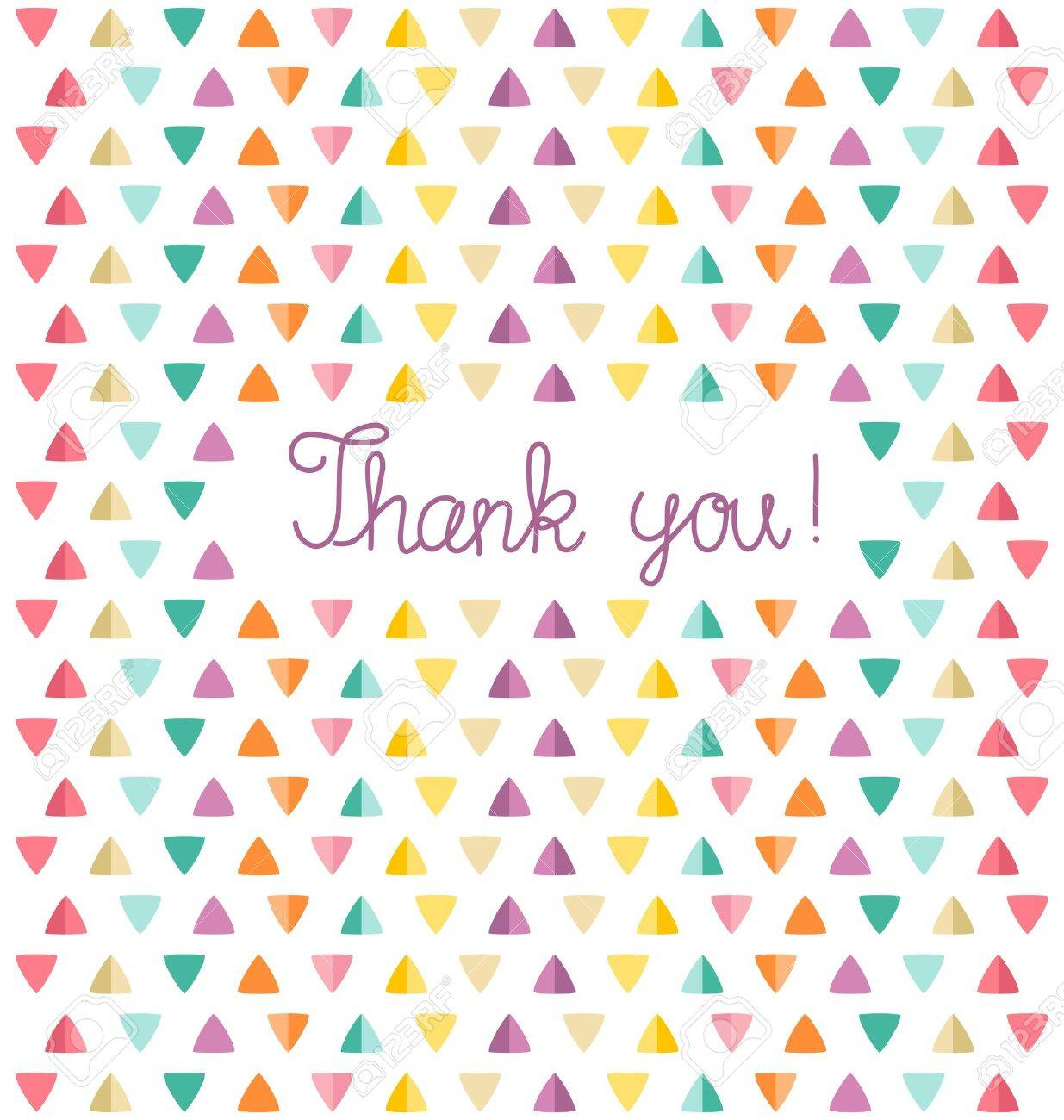 Thank You Card Template Vector Illustration Royalty Free Cliparts – Thank You Card Template